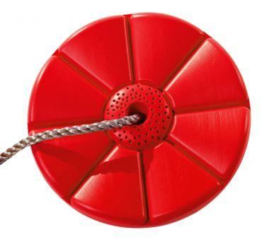 Plastový sedák  květina  ( kruhový )    - červený - PSMC