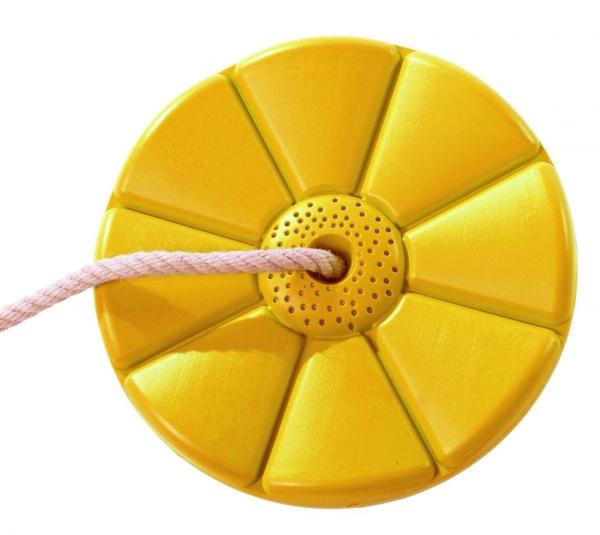 Plastový sedák  květina  ( kruhový ) - žlutý