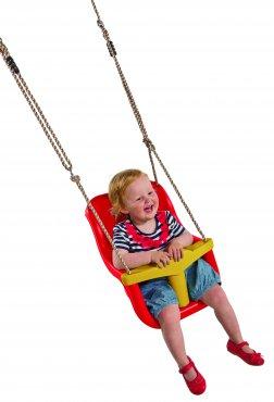 """Dětský sedák """"LUXE"""" pro děti do 3 let  - červená/žlutá"""