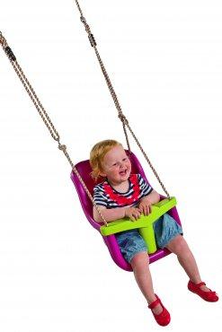 """Dětský sedák """"LUXE"""" pro děti do 3 let  - fialová/zelená limetka"""