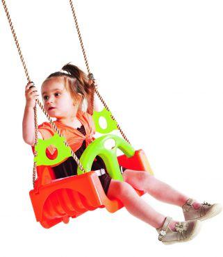 Dětský sedák TRIX univerzální  oranžová / zelená limetka