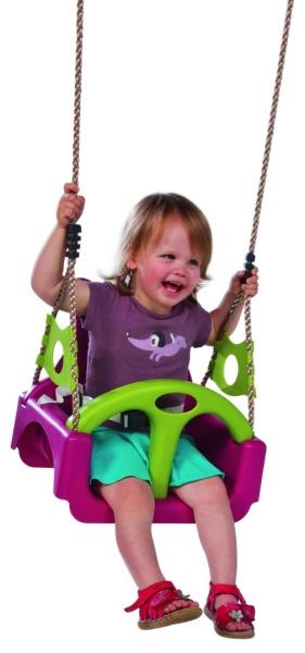 Dětský sedák TRIX  univerzální  fialová / zelená limetka