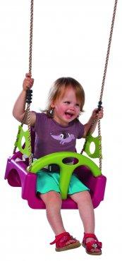 Dětský sedák TRIX  univerzální  fialová / zelená limetka - TRIX2