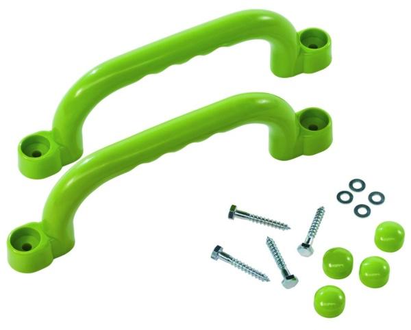 Sada plastových úchytů  barva zelená limetka