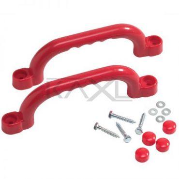 Sada plastových úchytů  barva červená - PU2