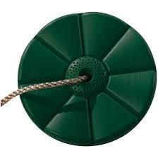 Plastový sedák  květina  ( kruhový ) - tmavě zelený
