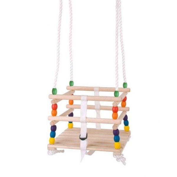Barevný dětský sedák dřevěný pro děti do 3 let